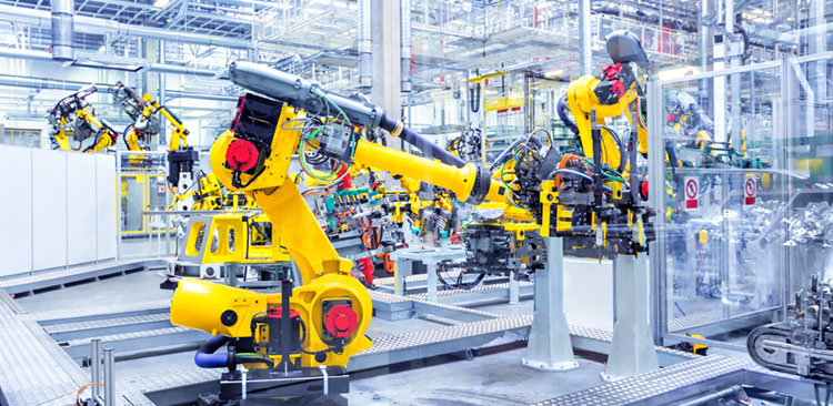 Automationstechnik gelbe Maschine